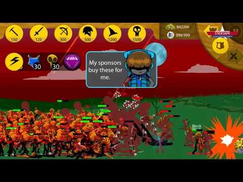 COOL 10 LINE SPEARTON LARVA SKIN | Stick War Apk Mod | Android Gameplay #FHD
