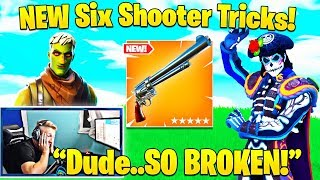 Tfue Shows/Explains Why NEW Six Shooter Revolver is OP! (Fast Swap Trick!) - Fortnite Funny Moments