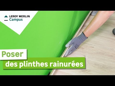 Comment Poser Des Plinthes Rainurees Leroy Merlin Youtube