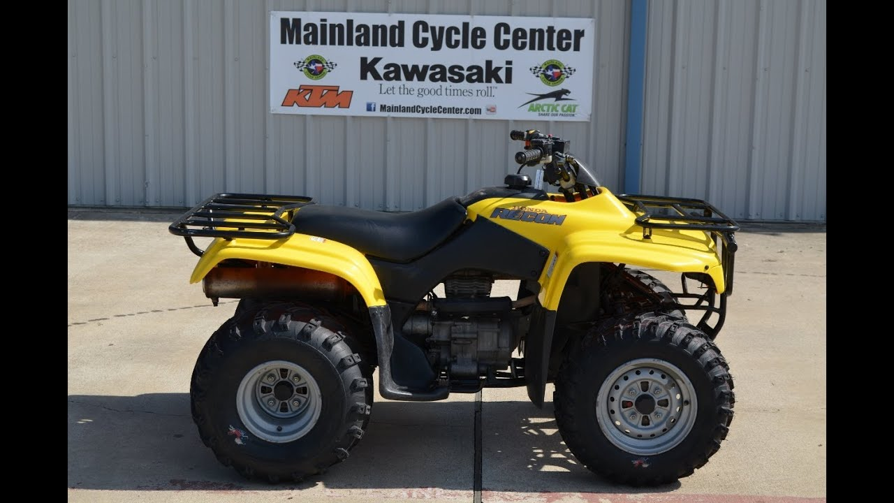 Honda Four Wheelers For Sale >> 2003 Honda Recon 250 Yellow Pre-Owned ATV - YouTube