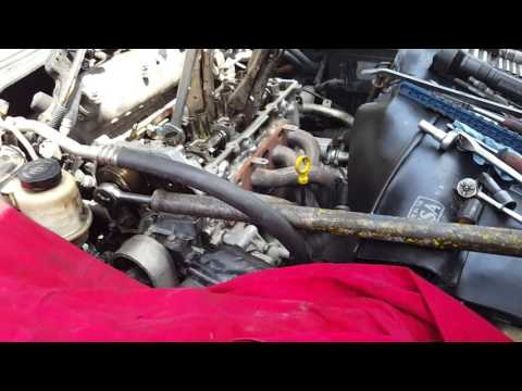 03 ALTIMA 2.5 SETTING THE TIMING CHAIN HEAD GASKET ...