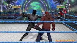 WWE All Stars (Spiderman Vs Black Panther) Incl. Slow Mo 60FPS