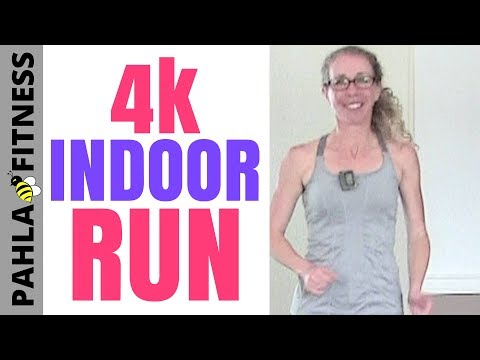 4K INDOOR RUN or WALK + Core Workout | 40 Minute RUNNING with Intervals (Thank You for Subscribing!)