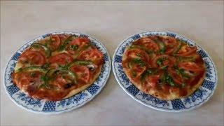 Очень вкусный  рецепт пиццы Итальянская ТОНКАЯ пицца с грибами и ветчиной