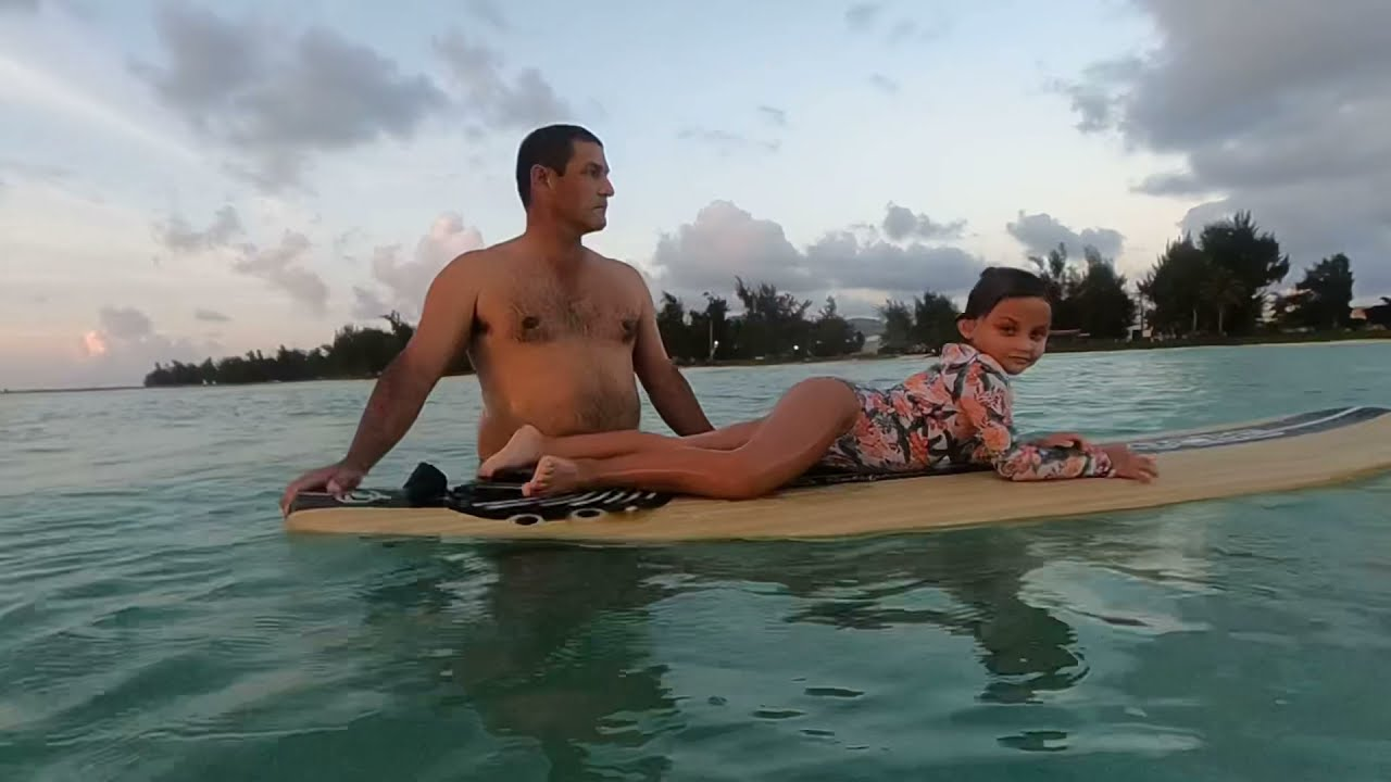 Download Sofía surfing in Sugar Dock Beach. Abril 2021, Saipan CNMI