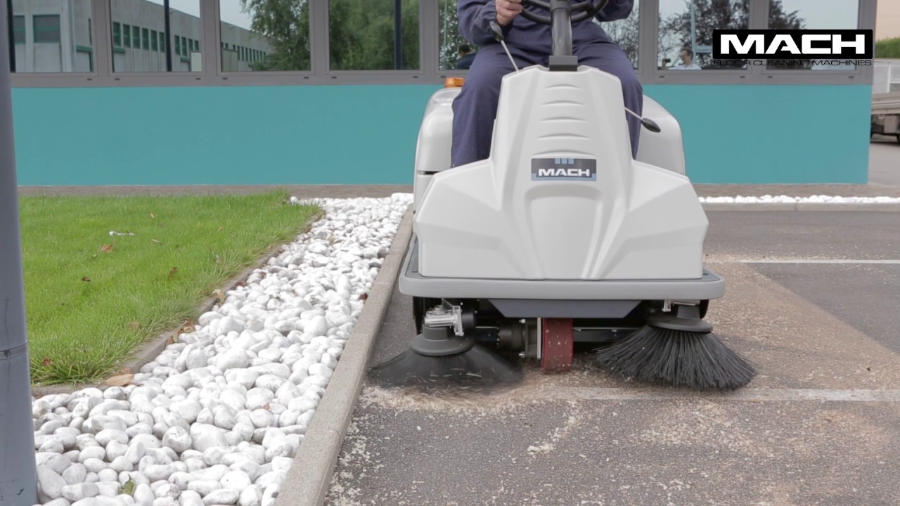 Mach 3 Pro Ride On Floor Sweeper Youtube