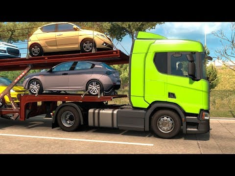 Euro Truck Simulator 2 Italia DLC - Car Trailer from Pescara |