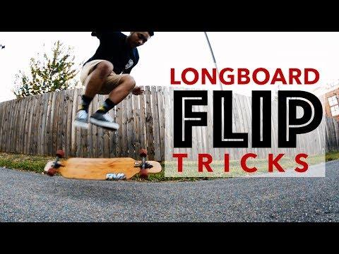 5 Easy Longboard FLIP Tricks For Beginners (2018)