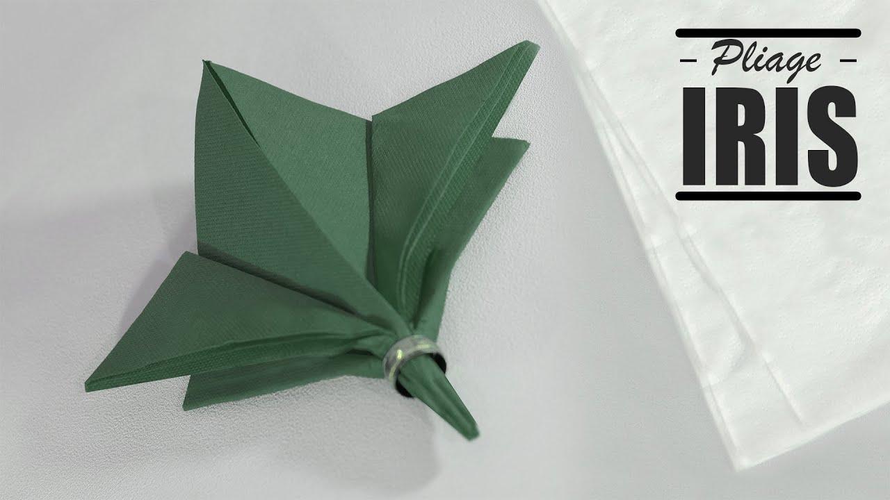 Pliage De Serviette Noel Fleur Iris