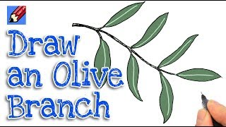 How to draw an Olive Branch Real Easy