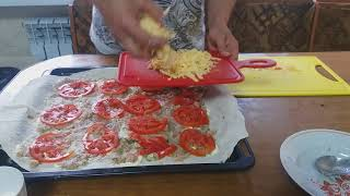 Закрытая пицца из лаваша за 20минут