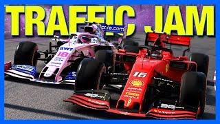 F1 2019 Career Mode : TRAFFIC JAM!! (Part 49)