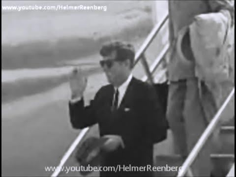 August 20, 1962 - President John F. Kennedy, Robert, Ethel and Edward arriving at Andrews AF Base