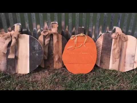 Pumpkin pallet project - DIY pallet project