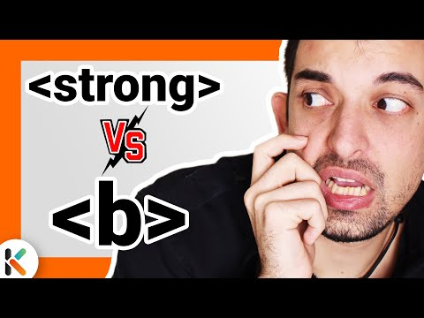 ¿Usar La Etiqueta Strong O B En HTML? - Poner Texto En Negrita