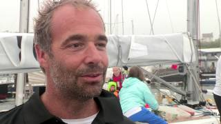 Philippe Falle skipper of Galahad Logic in the Rolex Fastnet Race 2015