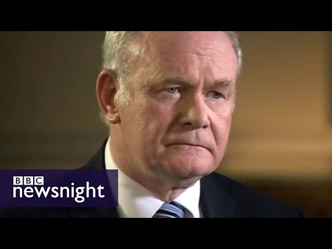 Martin McGuinness speaks to Jeremy Paxman in 2014 - BBC Newsnight