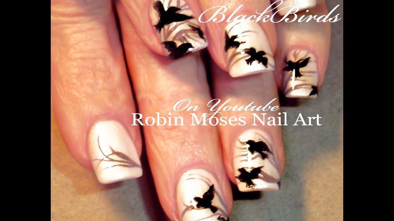 - DIY Easy Black Bird Nails Flying Birds Design Tutorial - YouTube