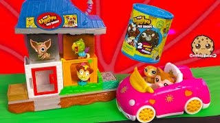Littlest Pet Shop Drive To The Ugglys Gross Homes Interactive Sounds Playset + Blind Bag Unbox