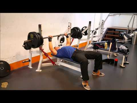 Bench Press with Resistance Bands - YouTube