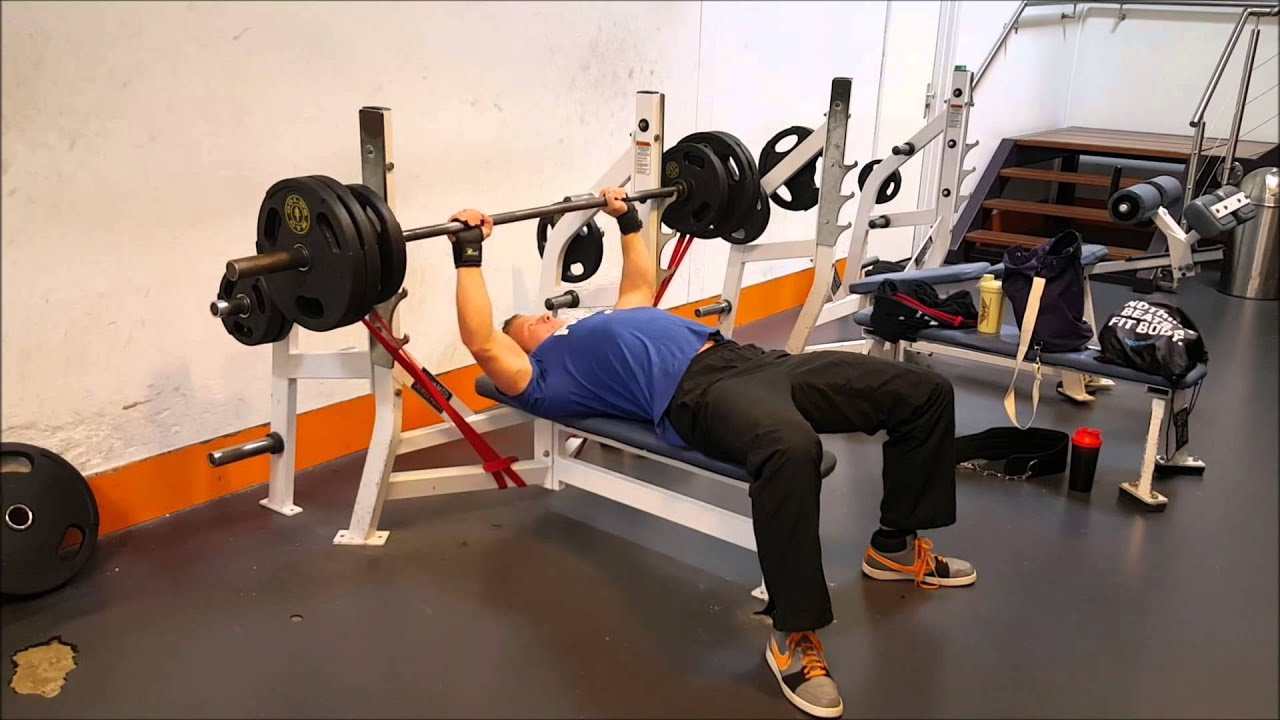 Bench Press With Resistance Bands Youtube