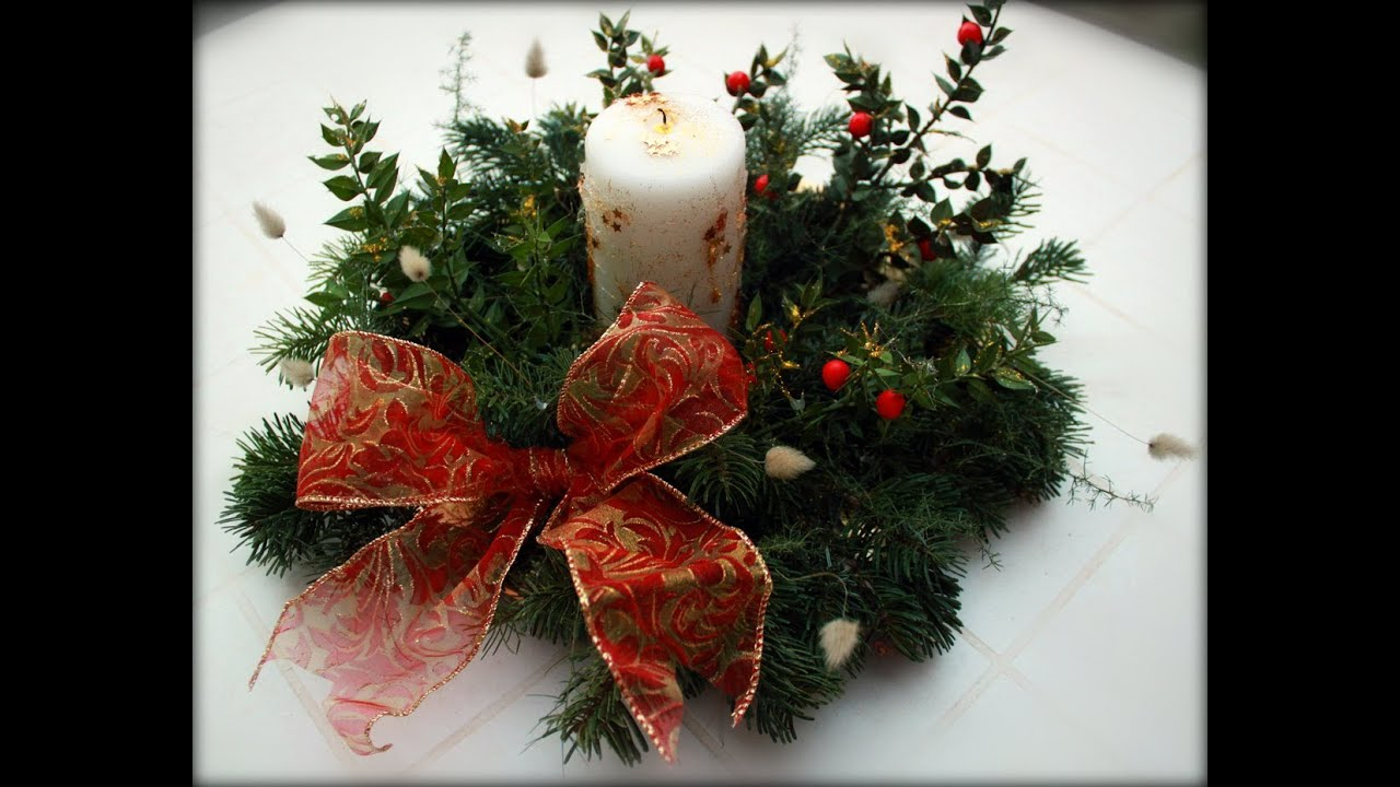 Centrotavola natalizio fai da te pianeta design youtube - Portacandele natalizi fai da te ...