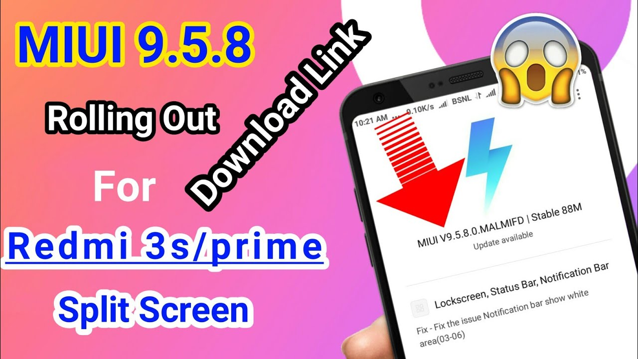 MIUI 9 5 8 0 New Stable update For | Redmi 3s /prime | Download Link Here