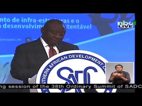 President Ramaphosa speaks at the 38th SADC Summit