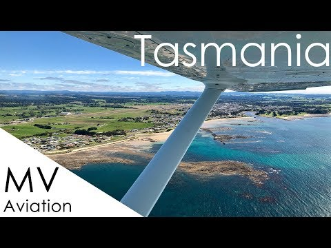 FLYING IN TASMANIA | C172 from Wynyard via Cradle Mountain and Launceston to Bridport