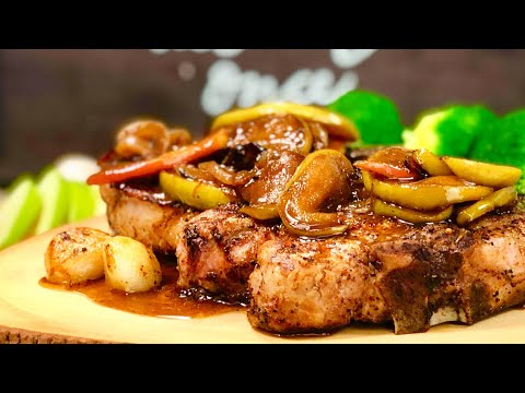 Pork Chops With Caramelized Apples & Onions