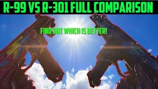Apex Legends R301 vs R99 Comparison - Which is Better? | Recoil, Damage, Range Tested!