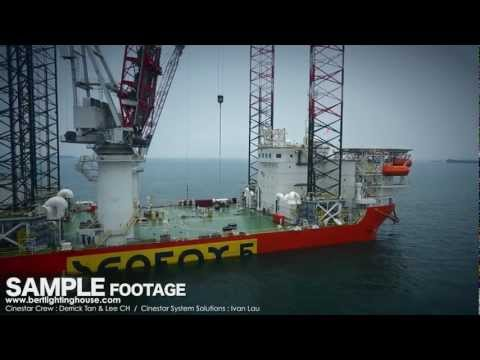 Cinestar Aerial Filming Demo Reel : Offshore Oil Rig (Short Edit)