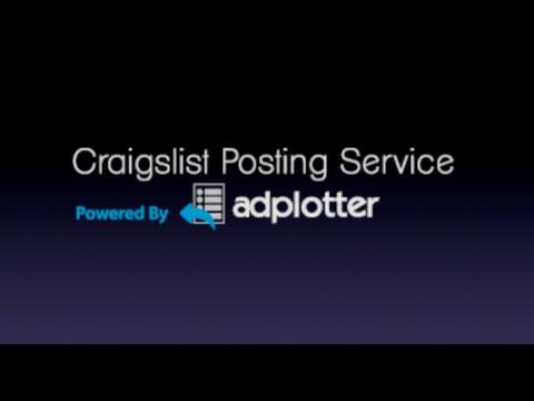 AdPlotter's Craigslist Posting Service
