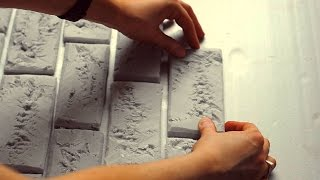 КАК СДЕЛАТЬ КИРПИЧНУЮ СТЕНУ В СТИЛЕ ЛОФТ. КИРПИЧНАЯ СТЕНА своими руками ♦СВОИМИ РУКАМИ Handmade DIY♦