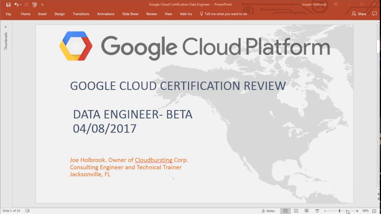 Google Cloud Platform Data Engineer Certification Review App Engine
