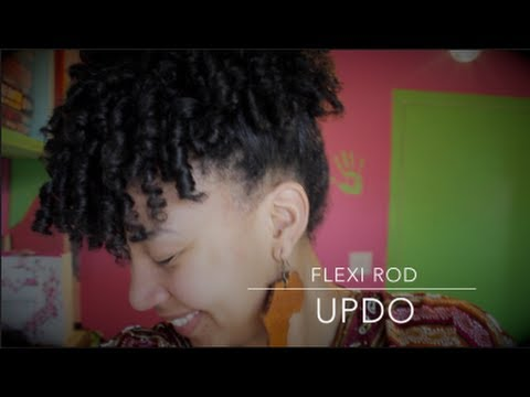 Easy Flexi Rod Updo Tutorial Youtube
