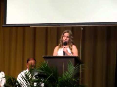 Caroline Elementary School Graduation speech