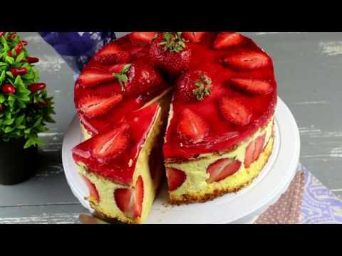 Торт Фрезье(Fraisier). Клубничный торт.Пошаговый рецепт.