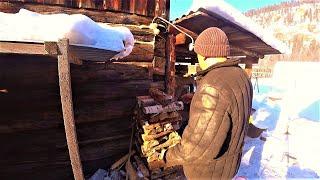 Обычная жизнь деревенских людей зимой