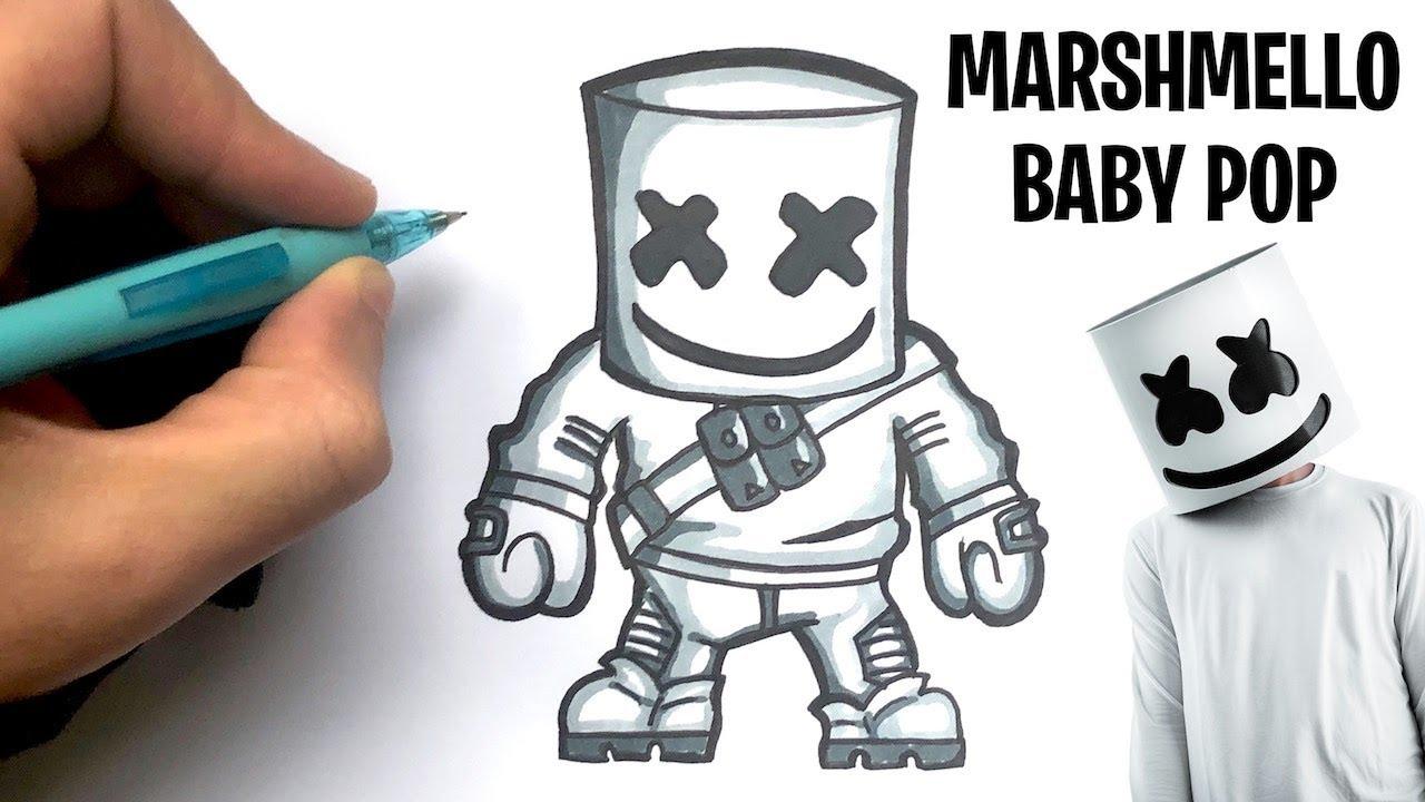 Tuto Dessin Marshmello Skin Fortnite Baby Pop Youtube