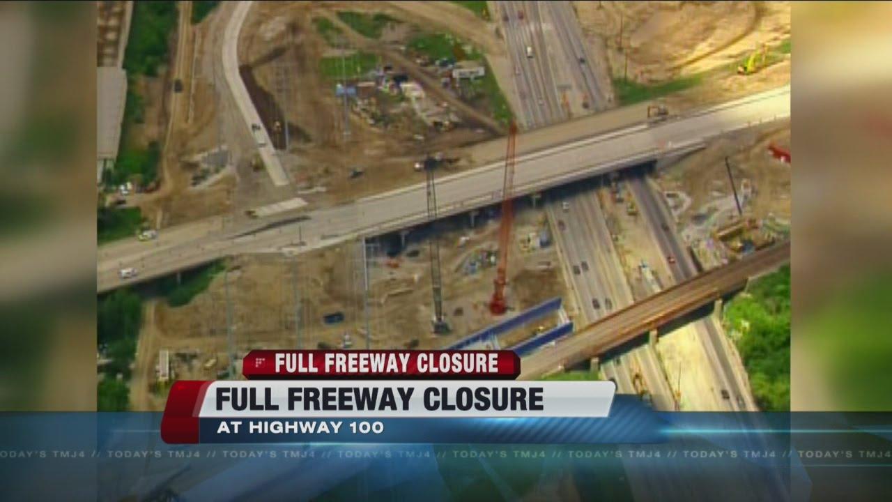 Full freeway closure this weekend