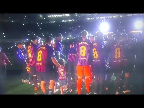 Andres Iniesta. FC Barcelona club offers perfect send off party!!!