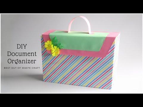 Document Organizer | DIY File Folder | Recycling Idea | Cereal Box Craft