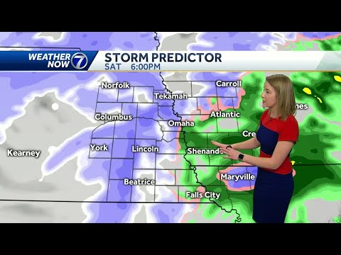 Rain changes to snow north and west of Omaha