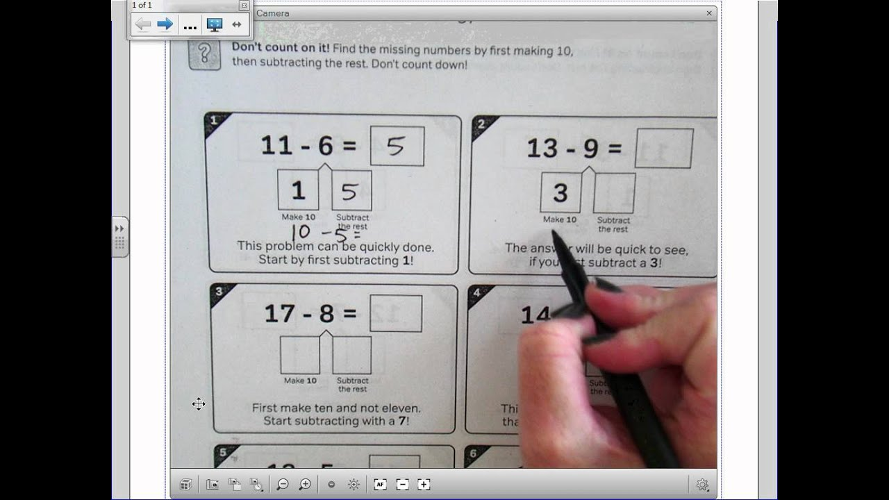 Make 10 Subtraction Strategy YouTube – Common Core Subtraction Worksheets