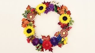Quilling Tutorial - Fall Wreath (part 6 of 6)