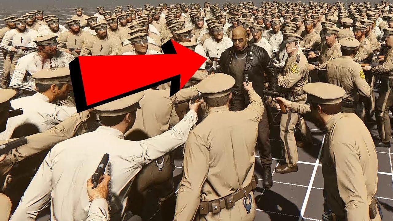 1000 Police Officers VS. Lincoln Clay (Mafia 3 Battle)