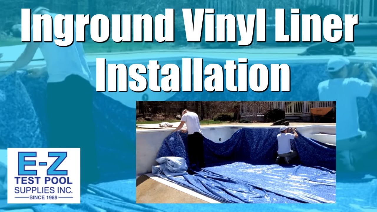 Inground pool liners vinyl liner installation by e z - Steps to build an inground swimming pool ...