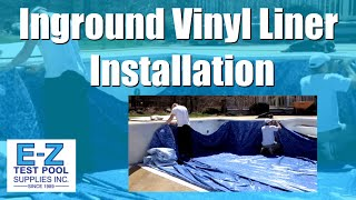 Inground Pool Liners | Vinyl Liner Installation by E-Z Test Pool Supplies