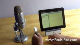 Yeti Microphone - Recording High Quality Audio On The iPad